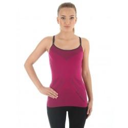 Koszulka damska na ramiączkach kolor amarantowy Brubeck