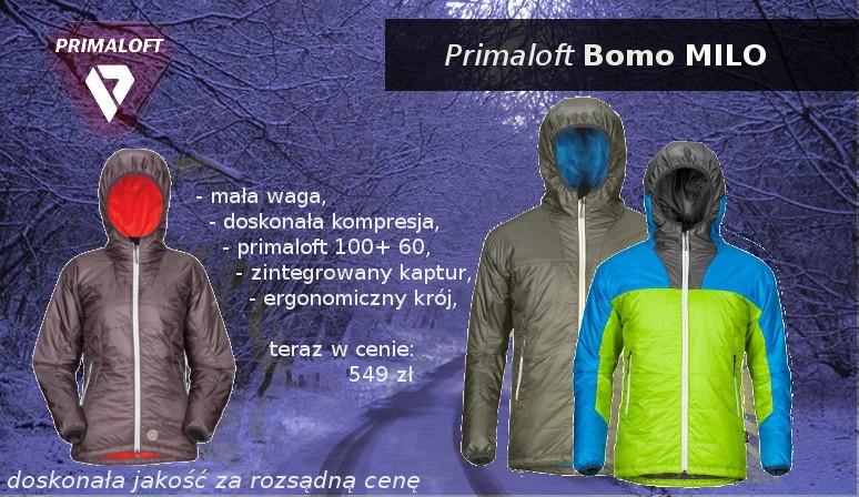 Doskonałej jakości kurtki Milo z wypełnieniem wielowarstwowym Primaloft,